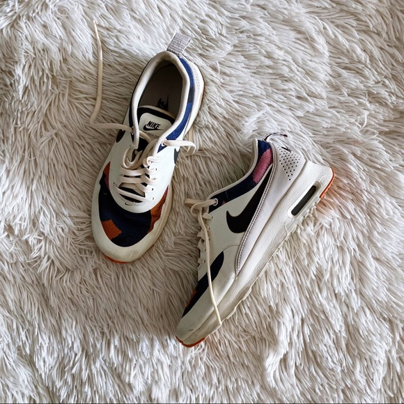 NIKE cream+ multicolored THEA sneakers